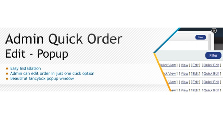 Quick Order Edit Popup - SALE 30% DISCOUNT