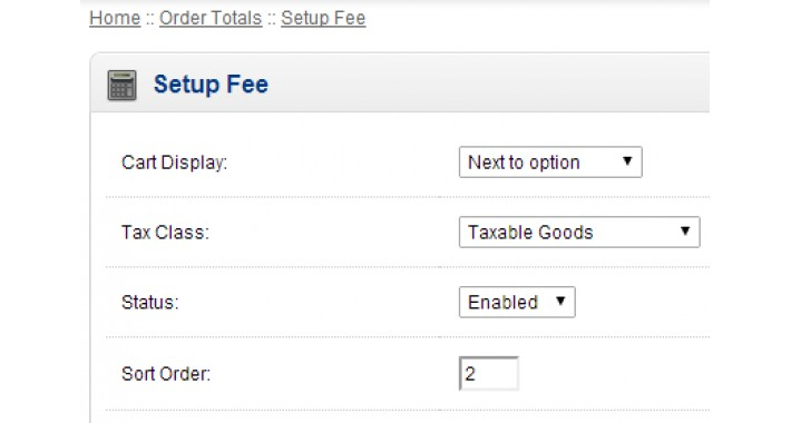 Order Totals: Setup Fees for Product Option Values