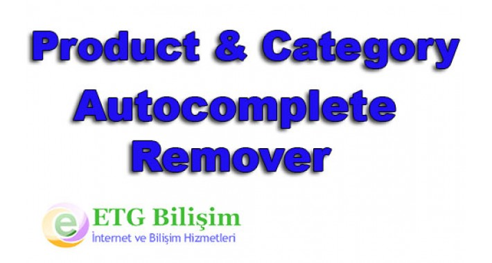 Remove Autocomplete Category and Product Edit Page