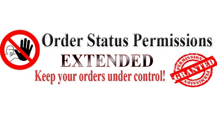 (VQmod) Order status permissions Extended