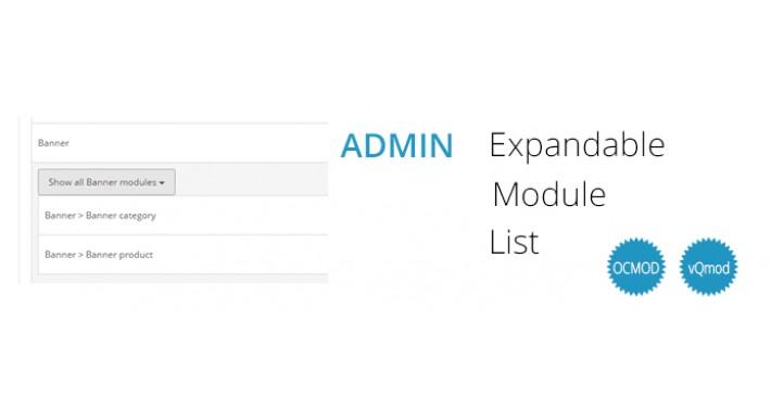 Admin Expandable Module List