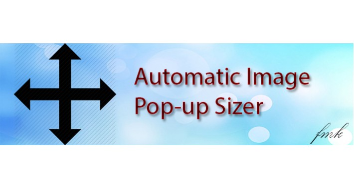 Automatic Image Popup Sizer
