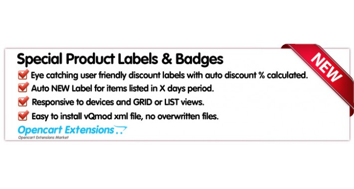 Special Product Discount Labes and Badges