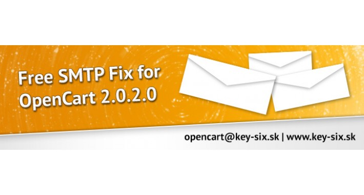 FREE SMTP FIX FOR OPENCART 2.0.2.0
