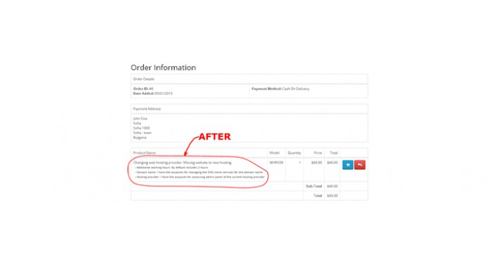 Long Text for Catalog Options in Opencart Orders (OCMOD)