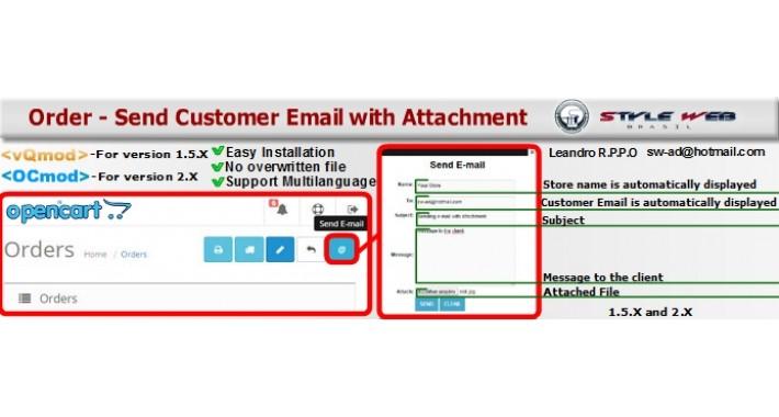Send Customer E-mail With Attachment
