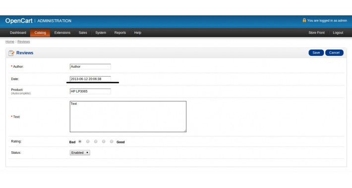 VQMOD - Add date field to reviews in Admin Panel