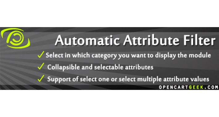 Automatic Attribute Filter (+Price, +Manufacturer)