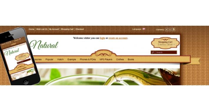 Natural shop responsive