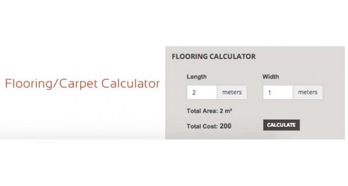 Opencart flooring carpet calculator for Flooring calculator