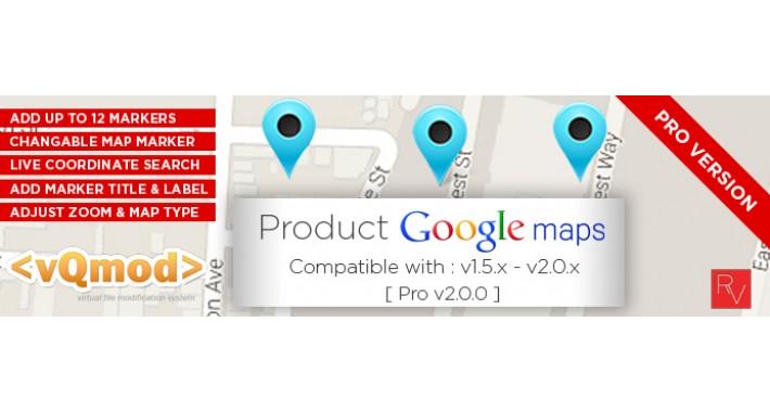 OpenCart - Product Google Map (PRO) - Opencart 1 5 x - 2 2 x Vqmod