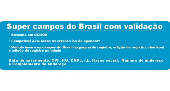 Super campos do Brasil, cpf, rg, cnpj, i.e, razão social etc