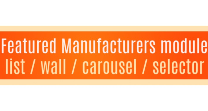 Featured Manufacturers module - List - Wall - Carousel