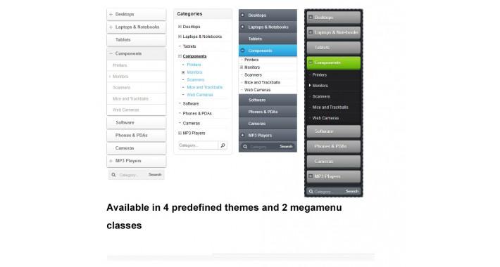 OpenCart - Category tree & megamenu