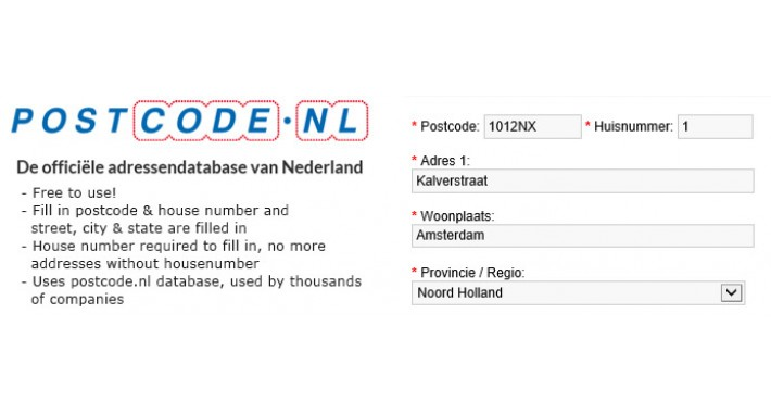 Postcode.nl - adds address, city and state for The Netherlands
