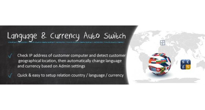 Language & Currency Auto Switch IP Based (OC2.x)