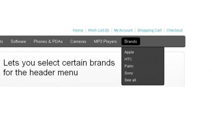 Brands In Top Menu