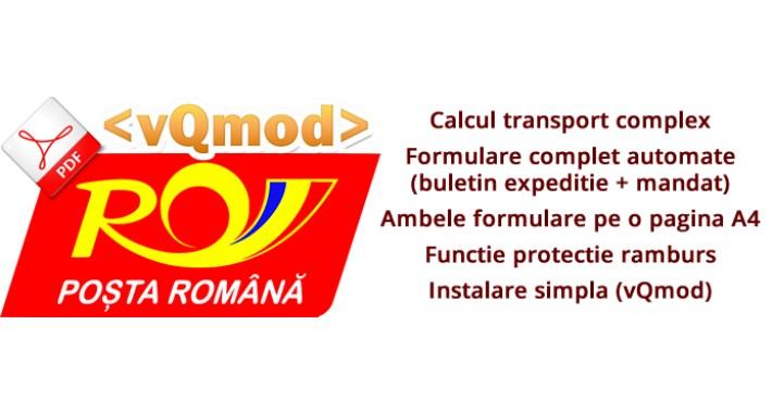 Posta Romana - Automatizare formulare, calcul transport Romania