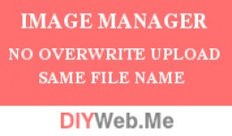Image Manager No Overwrite Upload With Same File..