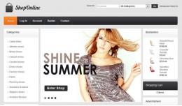 Shop Online - clean OpenCart template