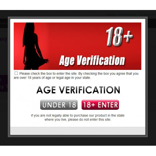 For the Adult verification site