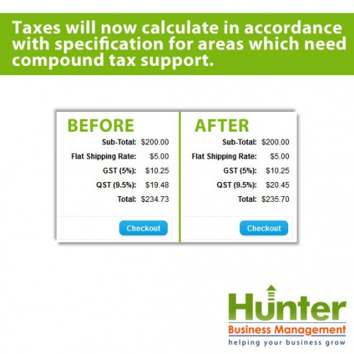 opencart compound tax support tax on taxes for quebec pei canada