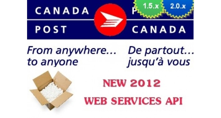 Canada Post WebService Live Rates 1.5.x/2.x/3.0/Mijo