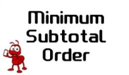 Minimum Subtotal Order