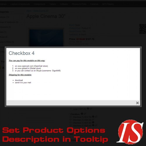 OpenCart - Set Product Options Description in Tooltip for 1 5 x x