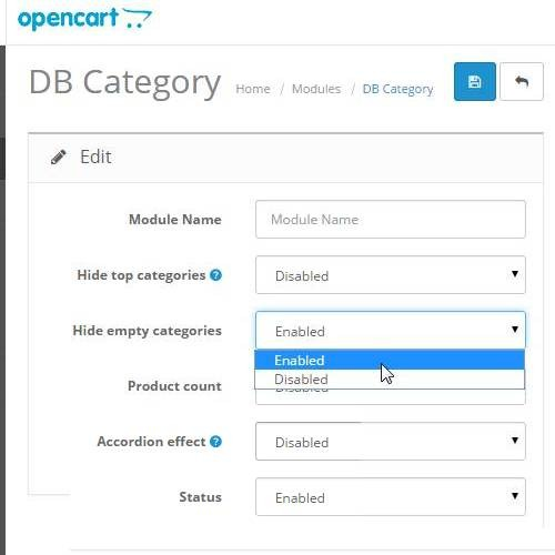 OpenCart - Deeper and Better Category Module