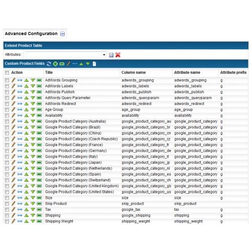 OpenCart - Google Merchant Center Feed
