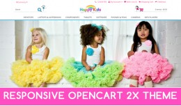 Happy Kids animated responsive opencart theme 2X