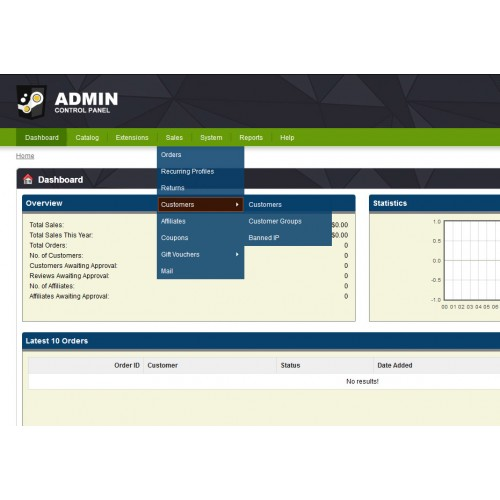 Opencart Admin Theme Change Logo And Footer Text