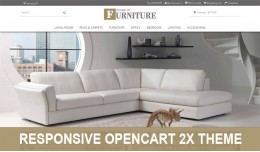 House of furniture responsive opencart  2X theme