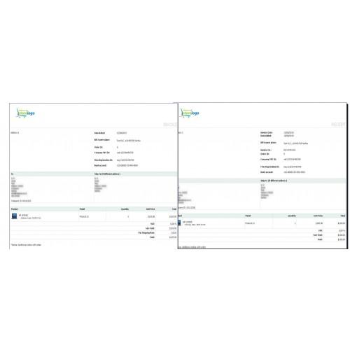 opencart simple invoice billing custom fields on receipt bill