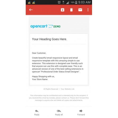 Opencart  Email Template Designer Pro Designer Pack
