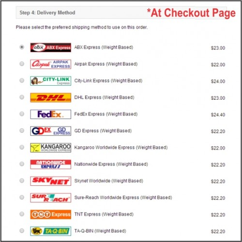 Opencart Combo Pack F3 Courier Service Weight Based