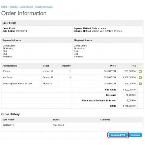 OpenCart Custom Invoice Template DOCX - Invoice template docx