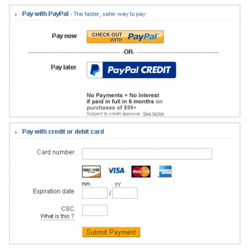 OpenCart - Paypal Advanced (iframe or redirect integration