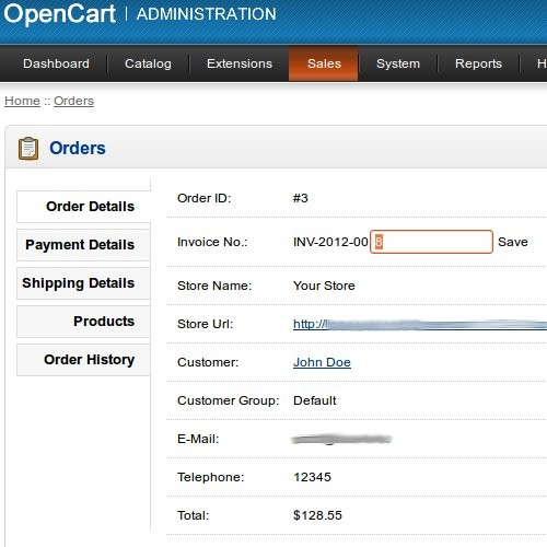 opencart template editor - opencart edit invoice number