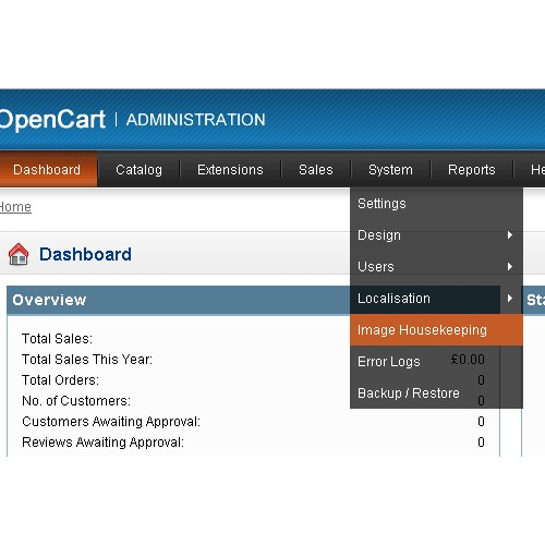 OpenCart - Image Housekeeping Tool For OC1 5 x