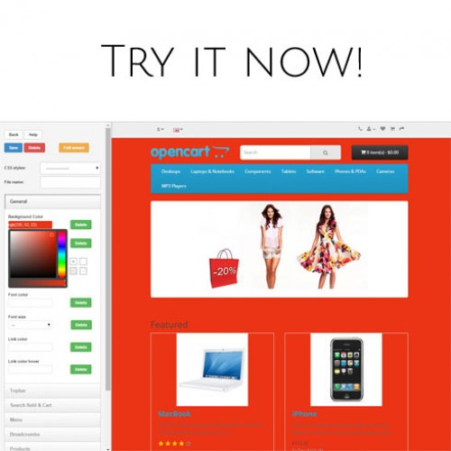 opencart template editor - opencart live theme editor