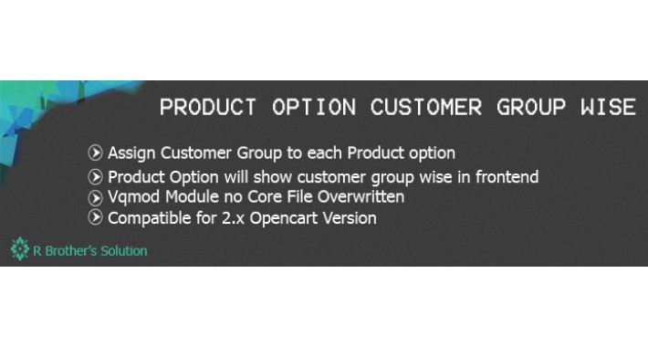 Product Each Option Customer Group Wise