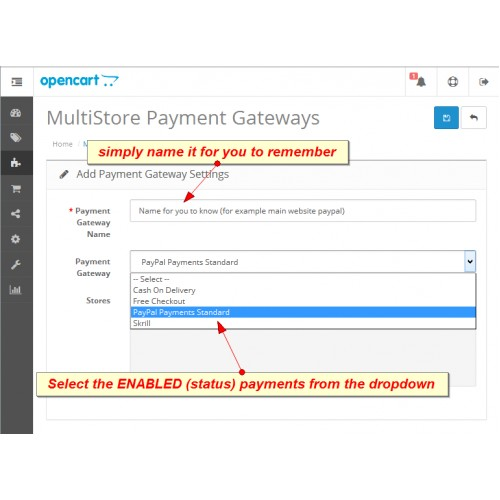 how to add payment methods in opencart
