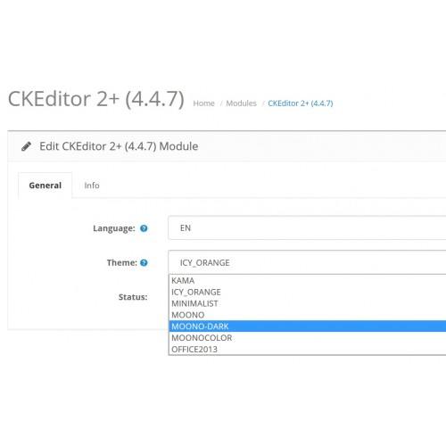 OpenCart - CKEditor 4+ (4 8 0) - full