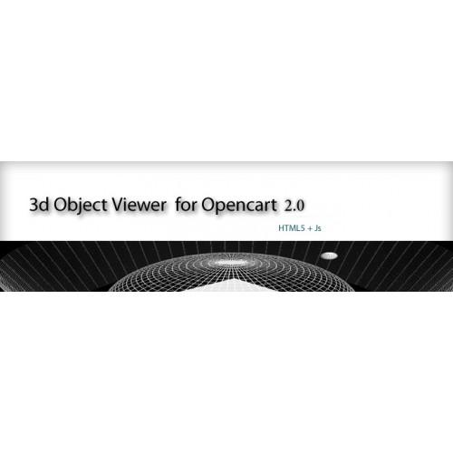 OpenCart - 3D Object Viewer Opencart 2