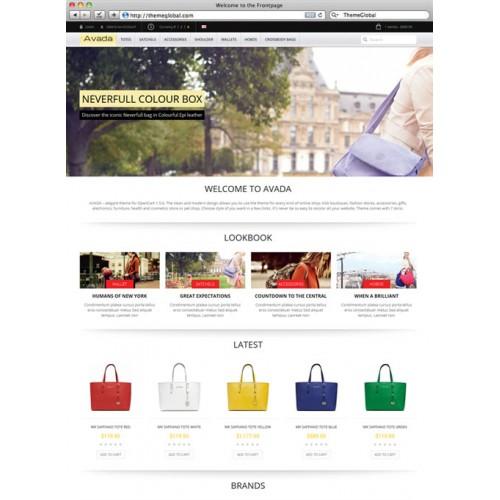 OpenCart - AVADA - Elegant Responsive OpenCart Template