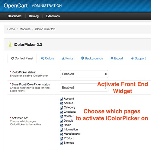 opencart how to change theme