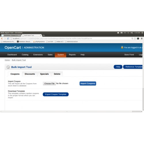 Coupons for products in opencart