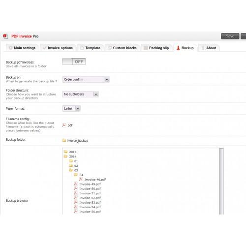 opencart pdf invoice pro